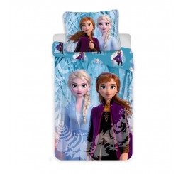 Obliečky Ľadové Kráľovstvo 2 Snowflakes Bavlna 140x200, 70x90 cm