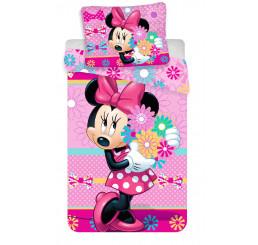 Obliečky Minnie Bows and flowers 140x200