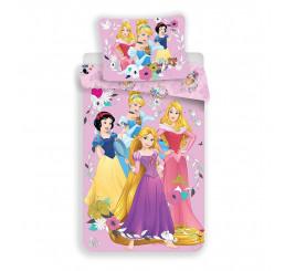 Obliečky Princess pink 2 Bavlna 140x200, 70x90 cm