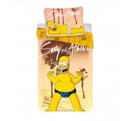 Obliečky Homer Simpson beach 140x200, 70x90