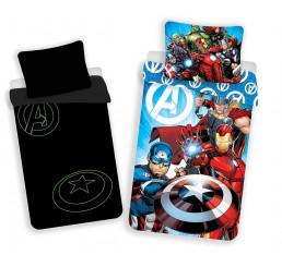 Obliečky Avengers svietiace v tme Bavlna, 140x200, 70x90 cm