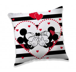 Vankúšik Mickey a Minnie stripes Polyester 40x40 cm