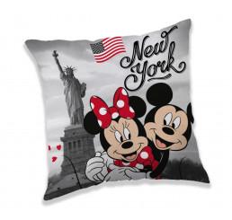 Vankúšik Mickey a Minnie New York Polyester, 40x40 cm