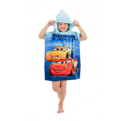 Pončo Cars blue 02 50x115