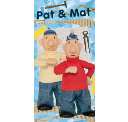 Osuška Pat a Mat blue 03 70x140
