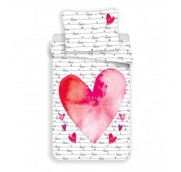 Obliečky Love Bavlna, 140x200, 70x90 cm