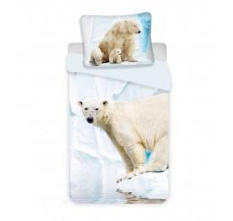 Obliečky Ľadový Medveď Bavlna, 140x200, 70x90 cm