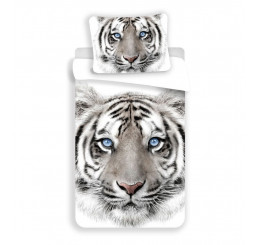 Obliečky Biely Tiger Bavlna, 140x200, 70x90 cm