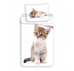 Obliečky Kitten white 140x200, 70x90