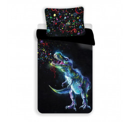 Obliečky Dinosaur Black 140x200, 70x90