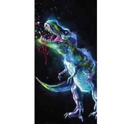 Osuška Dinosaur Black Bavlna Froté 70x140 cm