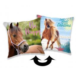 Meniaci vankúšk s flitrami Horse heart 40x40
