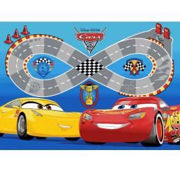 Detský koberček Cars 3 Speedway Nylon, slučkový vlas, 95x133 cm