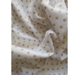 Bavlnená tetra osuška Hviezdičky Bavlna 90x100 cm