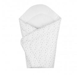 Detská zavinovačka biela hviezdičky Bavlna, 75x75 cm