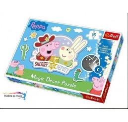 Puzzle Prasiatko Peppa Pig dekorácia 15 dielikov