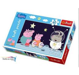 Puzzle Prasiatko Peppa Pig kozmonaut 60 dielikov