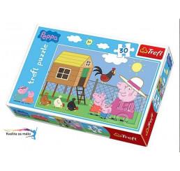 Puzzle Prasiatko Peppa Pig kurník 30 dielikov