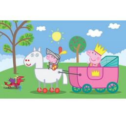 Doskové puzzle Prasiatko Peppa Pig-rytier 15 dielikov