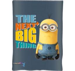 Fleece deka Mimoni šedá 100x150