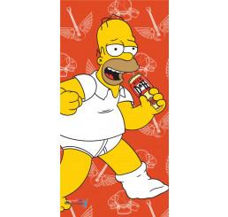Plážová osuška Homer Simpson 2015 terakota 75x150