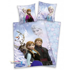 Obliečky Ľadové Kráľovstvo bavlna-Flanel 135x200, 80x80