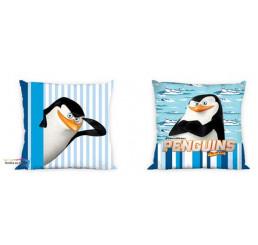 Obliečka na vankúšik Tučniaci z Madagaskaru modrá 40x40