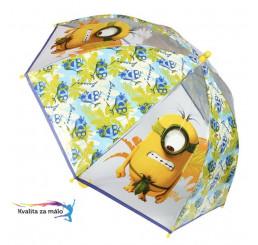 Priehľadný dáždnik Mimoni Bananas