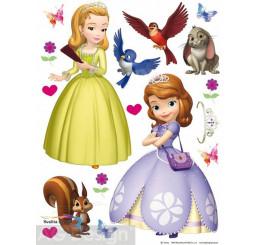 Maxi nálepka na stenu Princezná Sofia prvá