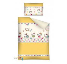 Obliečky do postieľky Hello Kitty žltá 100x135