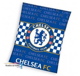 Flisová deka Chelsea nápisy