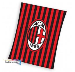 Flisová deka AC Miláno pruhy