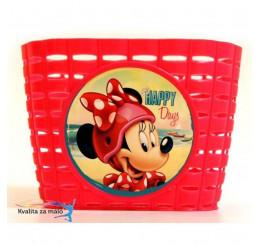 Košík na bicykel Minnie Mouse červený