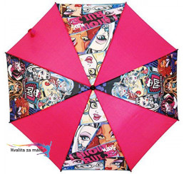 Vystreľovací dáždnik Monster High Ghoule Rule
