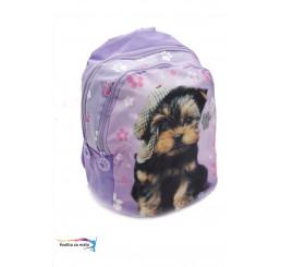 Detský batoh psík fialový 30cm