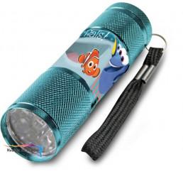 Detská hliníková LED baterka Hľadá sa Dory