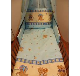 Obliečky do postieľky veselý medvedík modré 90x130
