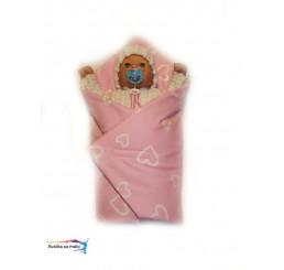 Ružová Rýchlo zavinovačka pre bábiky srdiečka