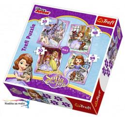 Puzzle Princezná Sofia prvá 4v1