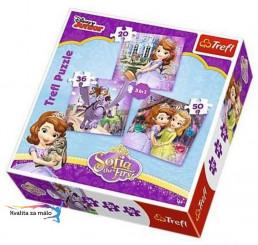 Puzzle Princezná Sofia prvá 3v1