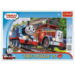 Puzzle Mašinka Tomáš 15 dielov