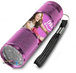 Detská hliníková LED baterka Soy Luna ružová