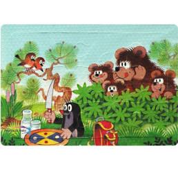 Penové Puzzle Krtko a Medveďi 12 dielov