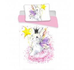 Obliečky do postieľky Bunny white baby Bavlna, 100x135, 40x60 cm
