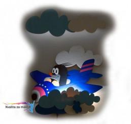 Lampička Krtko v lietadle s diaľkovým ovládaním