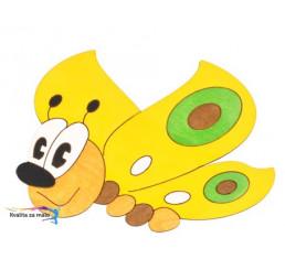 Drevená dekorácia stredná Motýlik s magnetom a lepkou