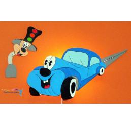 Lampička Auto farba modrá