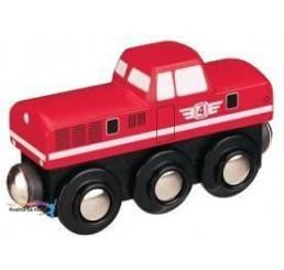 Dieselová lokomotíva červená