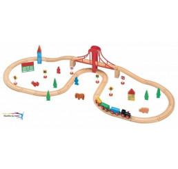 Vláčiková dráha s vysutým mostom 50 ks
