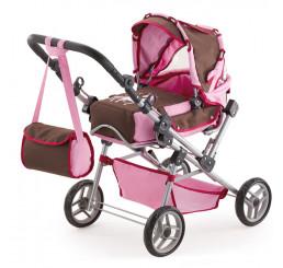 Kočík pre bábiky Bayer Trendsetter ružovo-hnedý 19163 67x42x82 cm